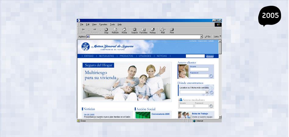 Mutua General Seguros diseño web Maria Barcelona