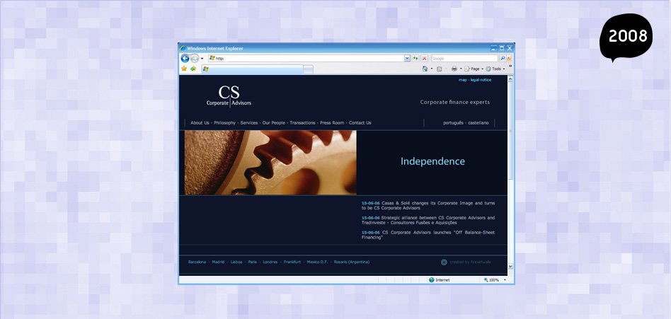 CS Corporate Advisors web page by Maria Barcelona
